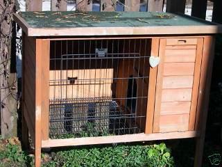 домик для крольчихи с детенышем