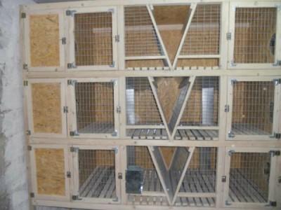 многоярусная конструкция для содержания кроликов